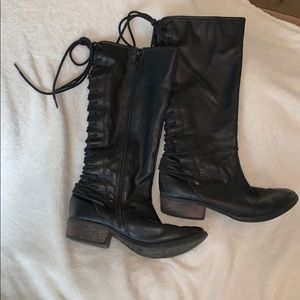 Steve Madden Lace Up Riding Boots Girls Size 3 1/2